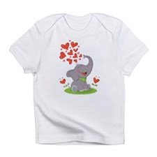 Elephant with Hearts Infant T-Shirt