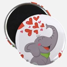 """Elephant with Hearts 2.25"""" Magnet (10 pack)"""