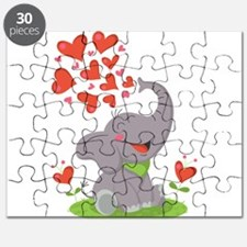 Elephant with Hearts Puzzle