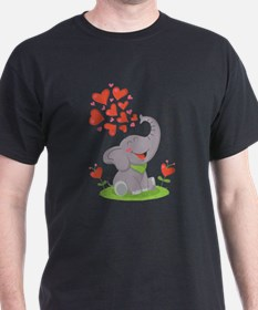 Elephant with Hearts T-Shirt