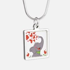 Elephant with Hearts Necklaces