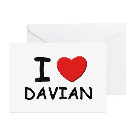 I love Davian Greeting Cards (Pk of 10)