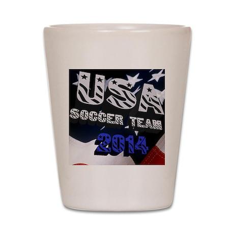 USA Soccer Team 2014 Shot Glass