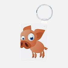 Funny Cartoon Pig Keychains