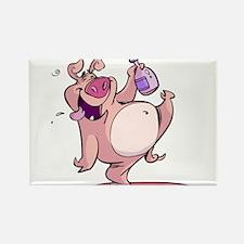 Drunk Pig Rectangle Magnet