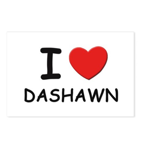 I love Dashawn Postcards (Package of 8)