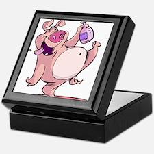 Drunk Pig Keepsake Box