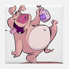 Drunk Pig Tile Coaster