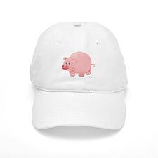 Pink Pig Baseball Baseball Cap