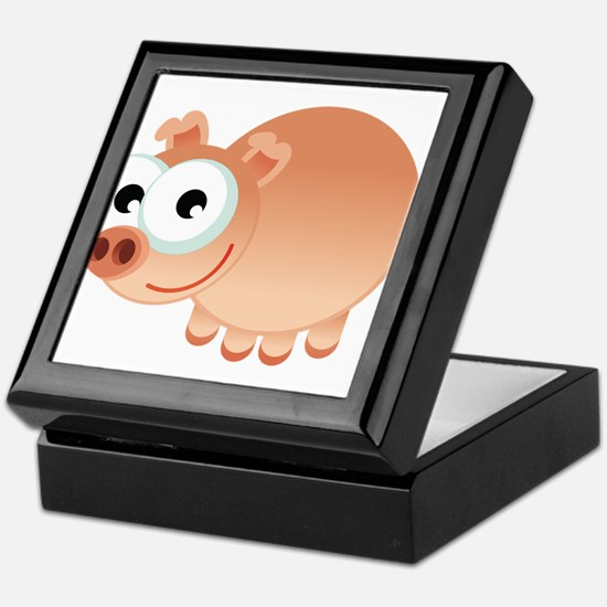 Happy Pig Keepsake Box