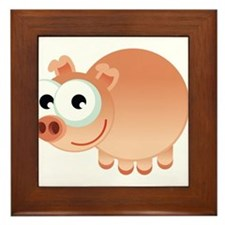 Happy Pig Framed Tile