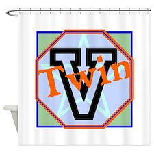 V Twin Shower Curtain