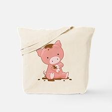 Pig in Mud Tote Bag