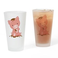 Pig in Mud Drinking Glass