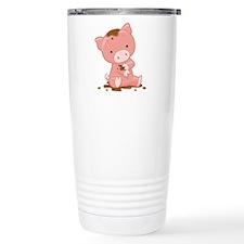 Pig in Mud Travel Mug