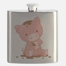 Pig in Mud Flask