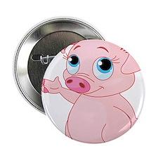 """Cute Pig 2.25"""" Button"""