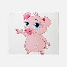 Cute Pig Throw Blanket