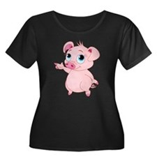 Cute Pig Plus Size T-Shirt