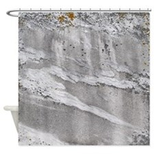 Weathered Marble Shower Curtain