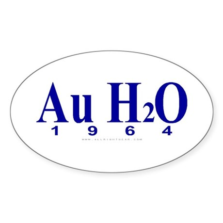 Au H2O (Goldwater) Oval Sticker