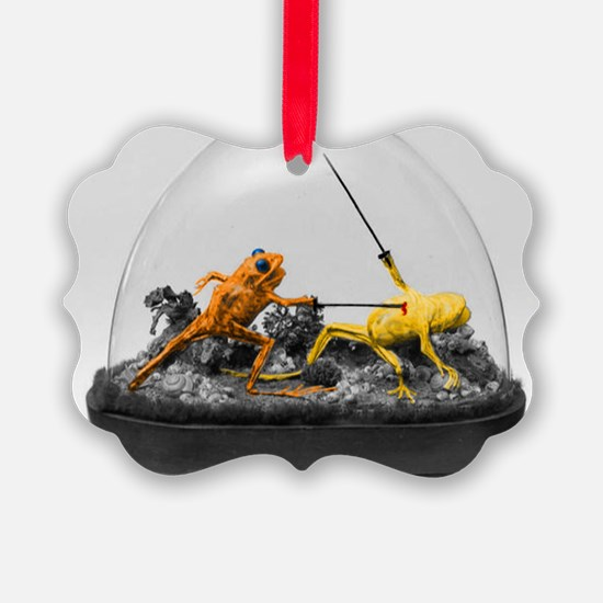 Dueling Frogs Ornament