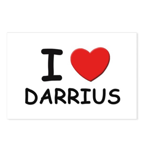 I love Darrius Postcards (Package of 8)