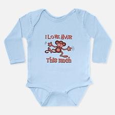 I Love Amir Long Sleeve Infant Bodysuit