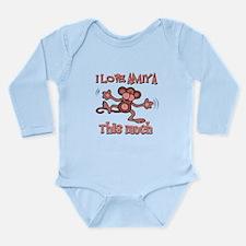 I Love Amiya Long Sleeve Infant Bodysuit