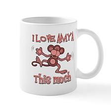 I Love Amya Small Mug