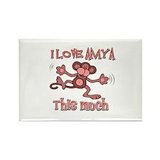 I Love Amya Rectangle Magnet (10 pack)