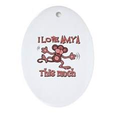 I Love Amya Ornament (Oval)