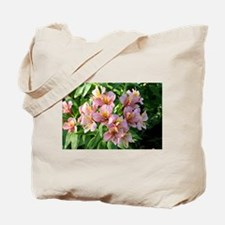 Peruvian lily flowers in bloom Tote Bag