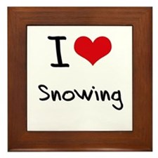 I love Snowing Framed Tile