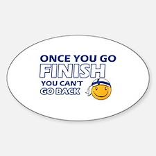 Finnish smiley designs Sticker (Oval)