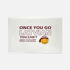 Latvian smiley designs Rectangle Magnet