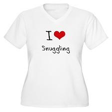 I love Snuggling Plus Size T-Shirt