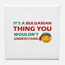 Bulgarian smiley designs Tile Coaster