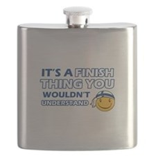Finnish smiley designs Flask