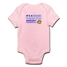 Greek smiley designs Infant Bodysuit