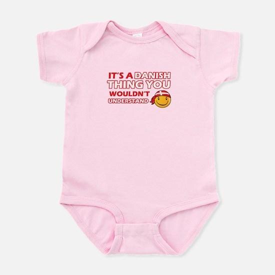Danish smiley designs Infant Bodysuit