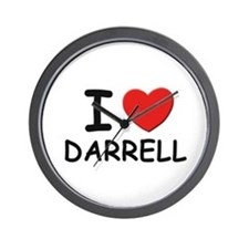 I love Darrell Wall Clock