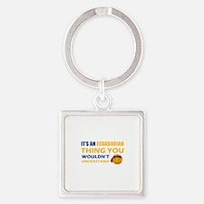 Ecuadorean smiley designs Square Keychain