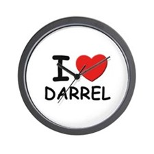 I love Darrel Wall Clock