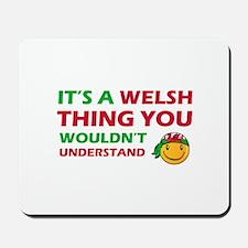 Welsh smiley designs Mousepad