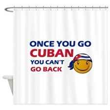 Cuban smiley designs Shower Curtain
