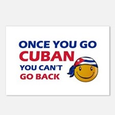 Cuban smiley designs Postcards (Package of 8)