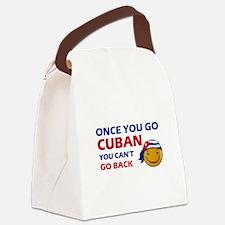 Cuban smiley designs Canvas Lunch Bag