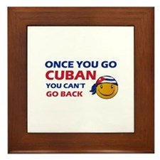 Cuban smiley designs Framed Tile