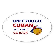 Cuban smiley designs Bumper Stickers